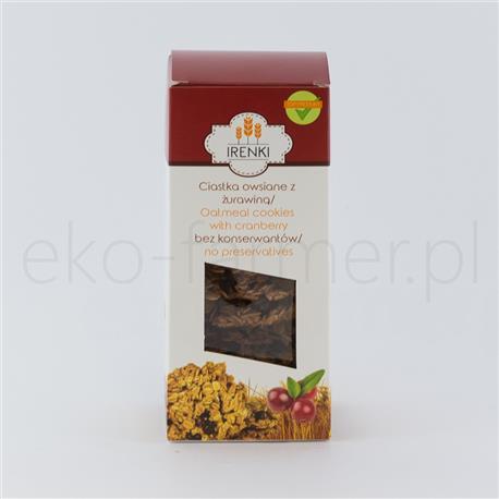 Ciastka Irenki z płatków owsianych z żurawiną 175g-702