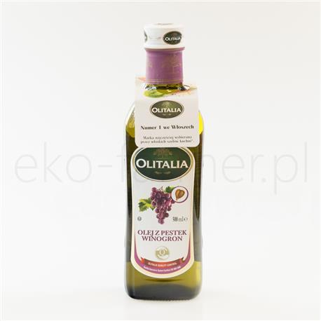 Olej z pestek wiogron Olitalia 500ml-589