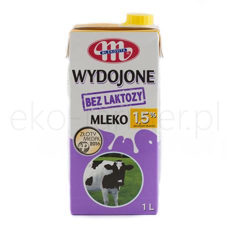 Mleko UHT wydojone bez laktozy 1,5% Mlekovita 1l-845