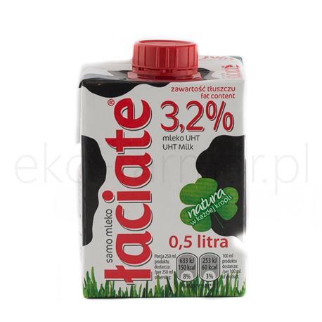 Mleko łaciate UHT 3,2% Mlekpol 0,5l-848