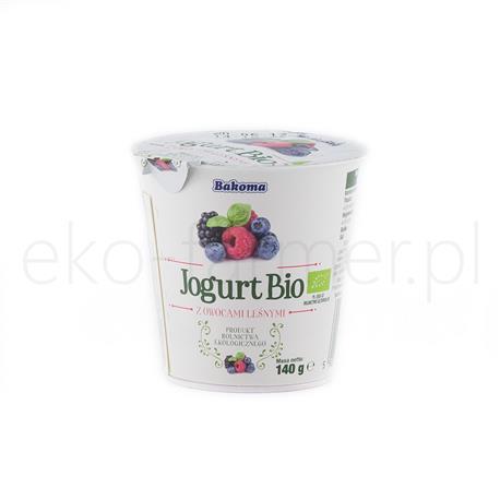Jogurt Bio owoce leśne Bakoma 140g-993