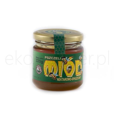 Miód nektarowo-spadziowy Barć świętokrzyska 220g-967