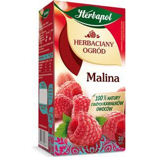 """Herbata """"herbaciany ogród"""" malina 20 szt. Herbapol-1292"""