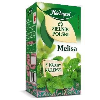 "Herbata ""zielnik polski"" melisa 20 szt. Herbapol-1299"