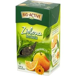 Herbata zielona z pomarańczą liść 100g Big-Active