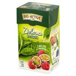 Herbata zielona malina/marakuja 20szt. Big-Active