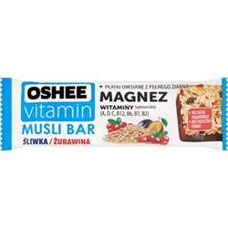 Baton zbożowy śliwka/żurawina 40g Oshee Vitamin