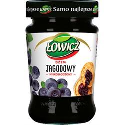 Dżem jagodowy niskosłodzony 280g Łowicz