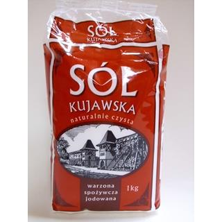 Sól warzona jodowana 1kg Kujawska-1607
