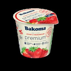 Jogurt PREMiUM Mild z truskawką 140g Bakoma