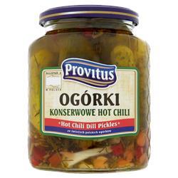 Ogórki konserwowe hot chili 640g Provitus-487
