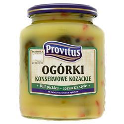 Ogórki konserwowe kozackie 640g Provitus-484