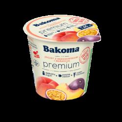 Jogurt PREMIUM Mild brzoskw/marakuja 140g Bakoma