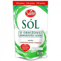 Sól niskosodowa z magnezem 350g Sante-206