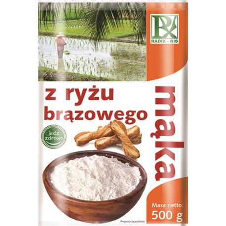 Mąka z ryżu brązowego 500g Radix-Bis-146