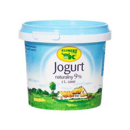 Jogurt naturalny 9% z prob.bakt. 330ml Klimeko-397